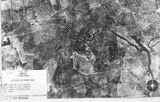 february 3 1945 aerial map bombing us