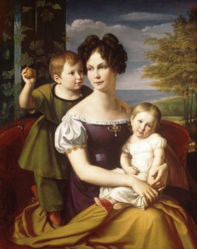Alexandrine of Prussia painted by Friedrich Wilhelm Schadow