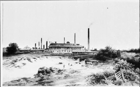 Kunheim´sche Fabrik in Bergmannstrasse 26-38 (Weinmeisterweg before) by J.Jacobi Senior 1840-50 (photo: bildindex.de)