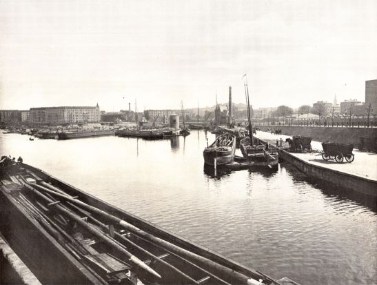 Urbanhafen in 1900 (with Municipal Gasworks - Böcklerpark today - to the right). (authour unknown).