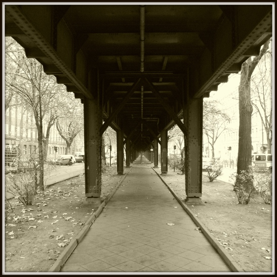 Under the viaduct