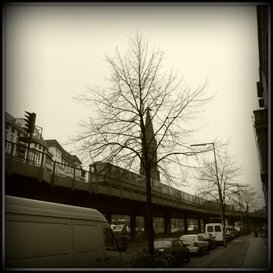 Skalitzer Strasse with Emmauskirche tower