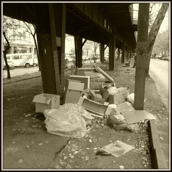 The usual dumping ground in Skalitzer Strasse...