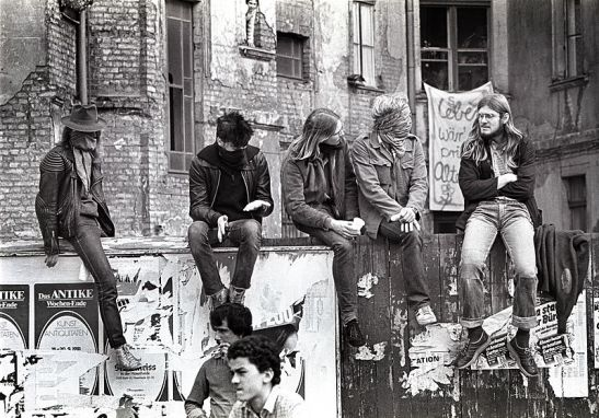 Kreuzberg squatters 1981 (photo: T. Ordelman)
