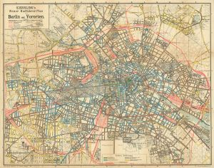 Kiessling´s cycling map of Berlin 1904 (source: Landesarchiv and Wikipedia