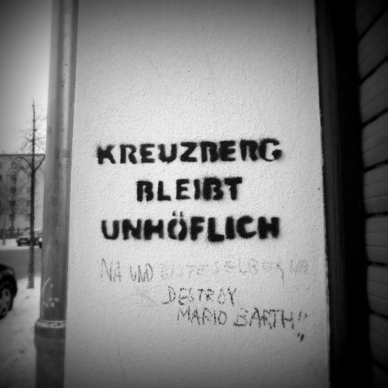 KREUZBERG REMAINS IMPOLITE