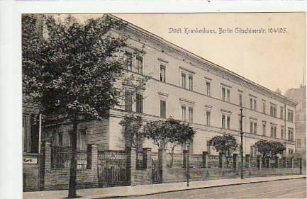 Berlin Kreuzberg Krankenhaus Gitschinerstraße 1909