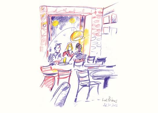Las Primas Bar Wrangelstrasse by Detlef Surrey