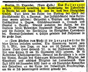 """From """"Anzeiger für Das Havelland"""" of December 21st, 1905"""