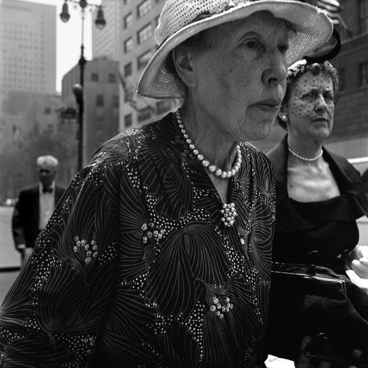 vivian maier two women with veils new york probably