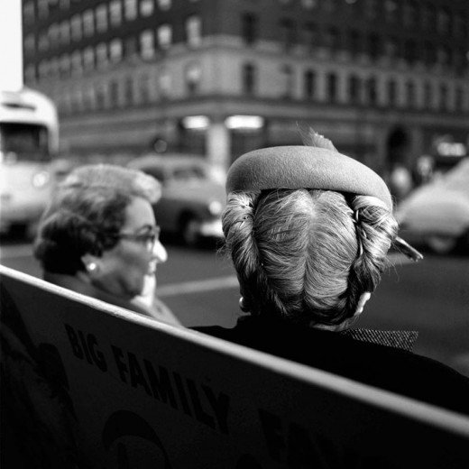 vivian maier woman´s head back rolled hair bog family