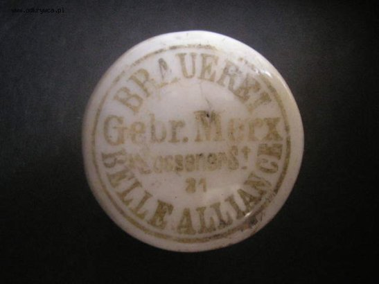 The original bottle top of Belle-Alliance Brauerei in Zossener Strasse 31