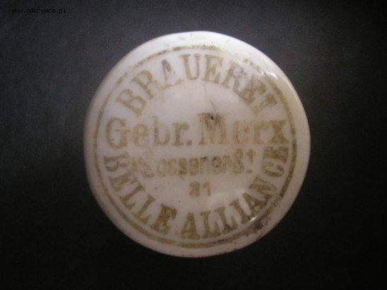The original bottle top of Belle-Alliance Brauerei in Zossener Strasse 31