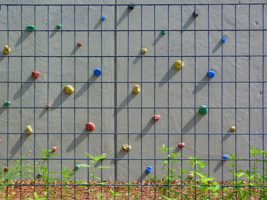 A school climbing wall in Alexandrinnenstrasse