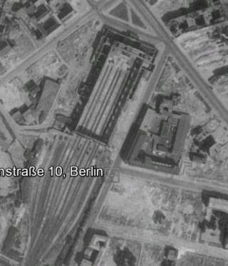 The ruins of Anhalter Bahnhof in 1953 (image by Google Earth History)