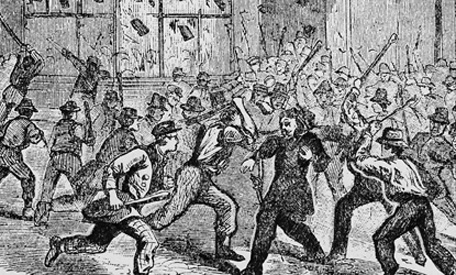 New York Draft Riots of the same month and year, July 1863 (image: Associated Press)