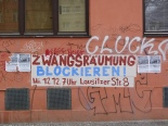 Call to join the demo on a house in Reichenberger Strasse