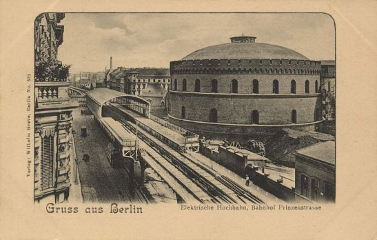 Prinzenstrasse station and the Imperial Continental Gas Association in Gitschiner Strasse in the summer of 1902