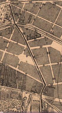 Kottbusser Strasse / Rixdorfer Damm on Berlin map 1861