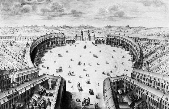 Das Rondell around 1735 (author unknown)