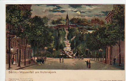 Viktoriapark waterfall around 1900