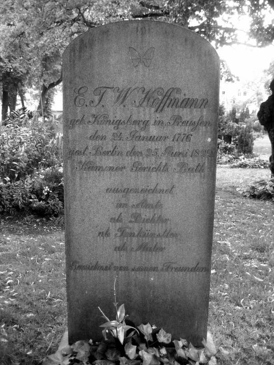 "ETW (his original initials) Hoffmann´s grave at the cemeteries ""Vor dem Halleschen Tor"""