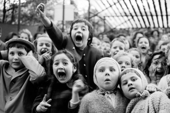 children at a pupper theatre in paris 1963 by a eisenstaedt