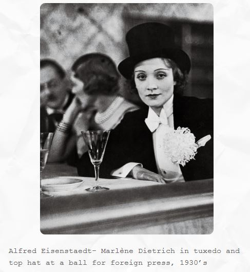 Marlene Dietrich at the Foreign Press Ball in Berlin in the 1930s