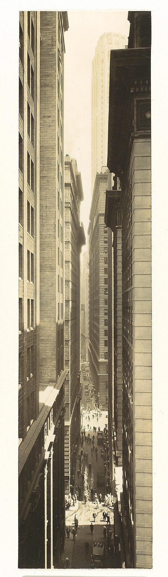 NYC Exchange Place in 1933 by Berenice Abbott (the original is the property of MOMA, currently not on display)