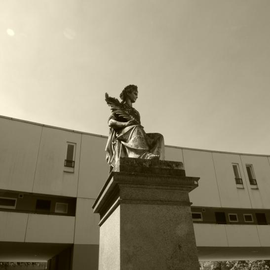 Der Frieden - Goddess of Peace Eirene at Mehringplatz today (photo by notmsparker)