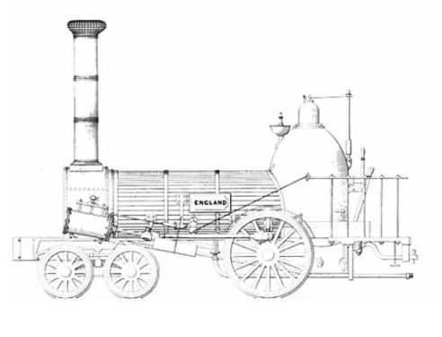 Norris´ steam locomotive The England built in 1840