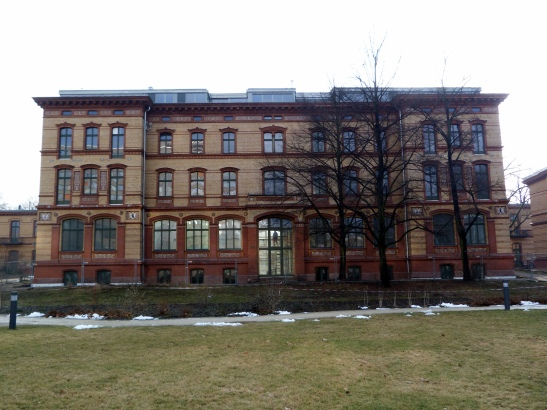 Verwaltungsgebäude still under renovation in February 2011