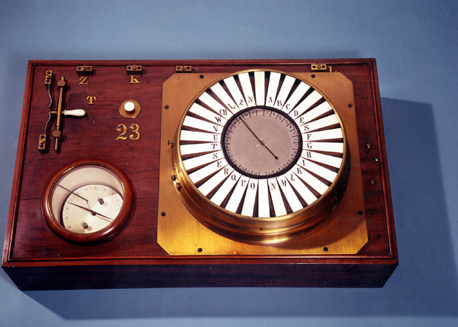 Siemens pointer telegraph from 1847 (source: Siemens AG history page)