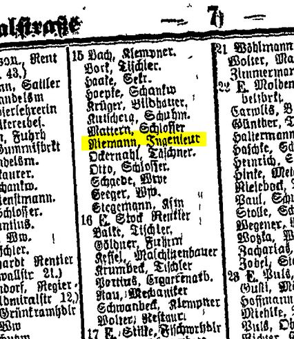 From Berlin Directory 1878