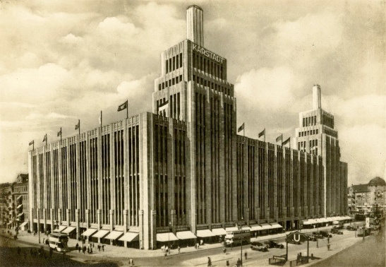 Karstadt in the 1930s seen from today´s Neukölln side of Hermannplatz (photo: oldimages on flickr)