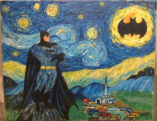 Calling On Batman on A Beautiful Starry Night (picture by sophiyou)