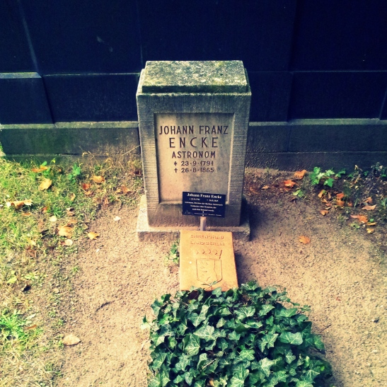 Encke´s grave in Zossener Strasse - a great man, a small stone...