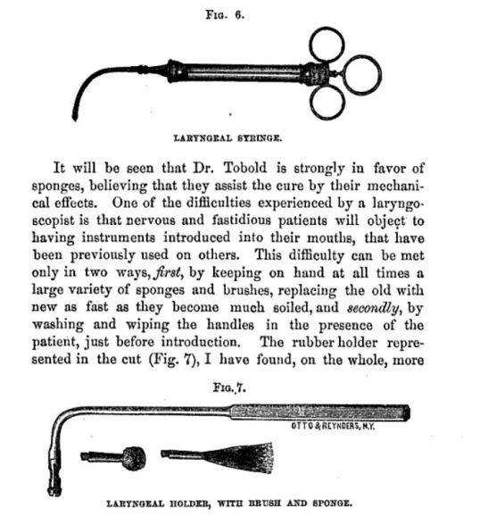 From Tobold´s book: his laryngeal syringe and why some patients are fussy about its application