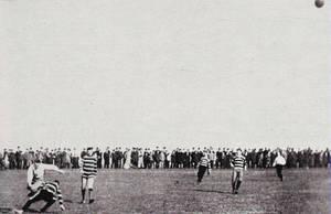 Viktoria against Germania Soccer Derby on Tempelhofer Feld around 1895