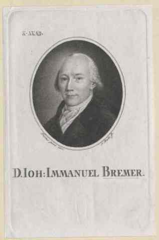 Dr Johann Immanuel Bremer (image: Austrian National Library)
