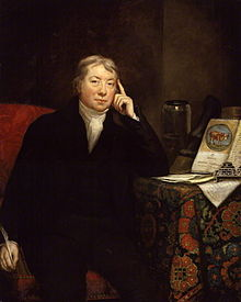 Dr Edward Jenner in a portrait by by James Northcote