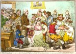 A caricature ridiculing the new form of inoculation and threatening those vaccinated with idiotic but back then scary consequences