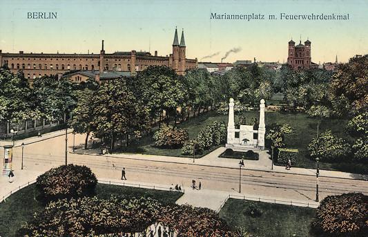 Hoffmann´s and Vogel´s Feuerwehrdenkmal around 1910
