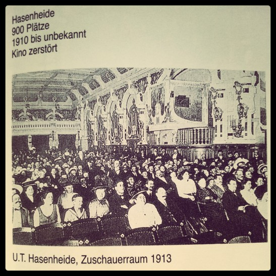 "Inside the Union Theater Hasenheide around 1911 (image copied from an excellent book ""Kinoarchitektur in Berlin 1895-1995"" by S. Hänsel & A. Schmidt)"