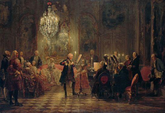 Das Flötenkonzert, 1852 (the original on display at the Alte Nationalgalerie in Berlin)