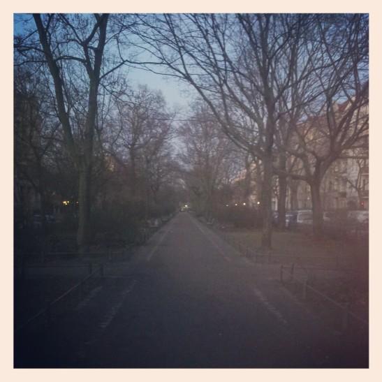 Dusk in Fontanepromenade in December (photo: nmp)