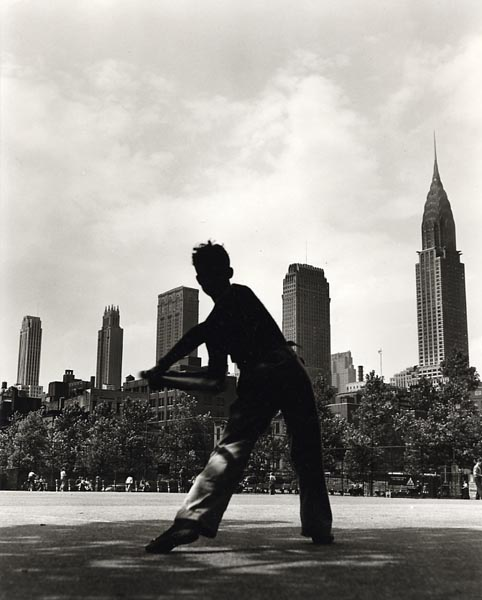 Baseball in the park by Fred Stein, NYC, 1946