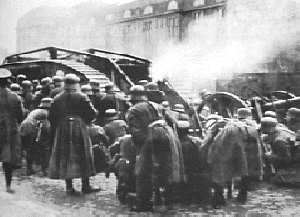 Freikorps troops during the street fights in January 1919