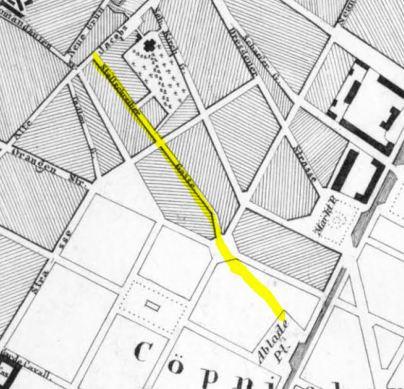 JANUARY 3 1855 stallschreiberstrasse becomes prinzessinnenstrasse