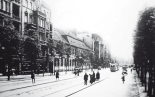 Lindenstrasse in 1929: the building of Vorwärts, at No. 3, third from the left (photo: Kreuzberg Museum)